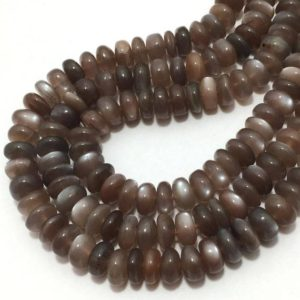Shop Moonstone Rondelle Beads! Natural Choclate Moonstone Smooth Rondelle Beads, 6mm to 7mm, 17 inches, Brown Beads, Gemstone Beads, Semiprecious Stone Beads | Natural genuine rondelle Moonstone beads for beading and jewelry making.  #jewelry #beads #beadedjewelry #diyjewelry #jewelrymaking #beadstore #beading #affiliate #ad