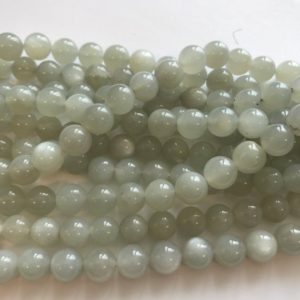 Shop Moonstone Round Beads! Natural moonstone 8mm Round Gemstone Beads—15.5 inch strand | Natural genuine round Moonstone beads for beading and jewelry making.  #jewelry #beads #beadedjewelry #diyjewelry #jewelrymaking #beadstore #beading #affiliate #ad