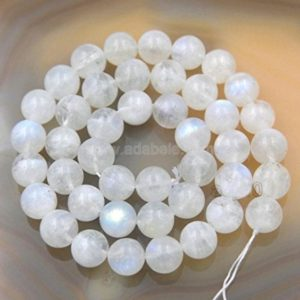 Shop Moonstone Beads! U Pick Top Quality Natural Blue Moonstone Gemstone 4mm 6mm 8mm 10mm Round Gems Stone Beads 15 inch Per Strand for Jewelry Craft Making | Natural genuine beads Moonstone beads for beading and jewelry making.  #jewelry #beads #beadedjewelry #diyjewelry #jewelrymaking #beadstore #beading #affiliate #ad