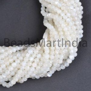 Shop Moonstone Round Beads! White Moonstone Smooth Round Gemstone Beads, White Moonstone Plain Round Gemstone Beads, Moonstone Beads, Moonstone From 4-6MM | Natural genuine round Moonstone beads for beading and jewelry making.  #jewelry #beads #beadedjewelry #diyjewelry #jewelrymaking #beadstore #beading #affiliate #ad