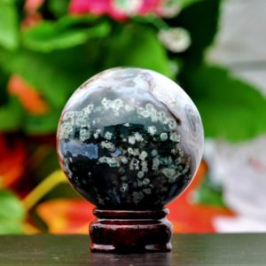 Shop Moss Agate Shapes! Small 70MM Natural Brown Coppernite Stone Spirit Metaphysical Healing Chakra Power Sphere Ball | Natural genuine stones & crystals in various shapes & sizes. Buy raw cut, tumbled, or polished gemstones for making jewelry or crystal healing energy vibration raising reiki stones. #crystals #gemstones #crystalhealing #crystalsandgemstones #energyhealing #affiliate #ad