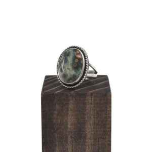 Shop Ocean Jasper Rings! Boho Ring in Ocean Jasper – .925 Sterling Silver Ring – Silversmith Ring | Natural genuine Ocean Jasper rings, simple unique handcrafted gemstone rings. #rings #jewelry #shopping #gift #handmade #fashion #style #affiliate #ad