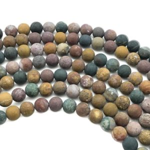 Shop Ocean Jasper Round Beads! 8mm Matte Ocean Jasper Beads, Round Gemstone Beads, Wholesale Beads | Natural genuine round Ocean Jasper beads for beading and jewelry making.  #jewelry #beads #beadedjewelry #diyjewelry #jewelrymaking #beadstore #beading #affiliate #ad