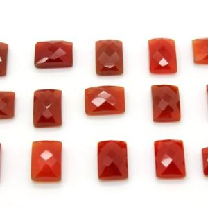 Shop Onyx Cabochons! GCF-1282 – Red Onyx Faceted Cabochon – 10x14mm Rectangular – Gemstone Cabochon – AA Quality – 1 Pc | Natural genuine stones & crystals in various shapes & sizes. Buy raw cut, tumbled, or polished gemstones for making jewelry or crystal healing energy vibration raising reiki stones. #crystals #gemstones #crystalhealing #crystalsandgemstones #energyhealing #affiliate #ad