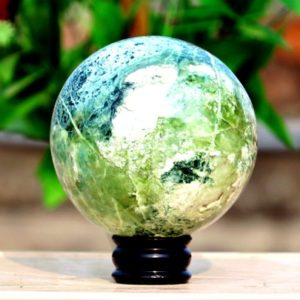 Shop Opal Shapes! Huge Natural Green Opal Stone 15CM 145MM Sphere Ball Decoration Healing Aura Chakra Metaphysical Power | Natural genuine stones & crystals in various shapes & sizes. Buy raw cut, tumbled, or polished gemstones for making jewelry or crystal healing energy vibration raising reiki stones. #crystals #gemstones #crystalhealing #crystalsandgemstones #energyhealing #affiliate #ad
