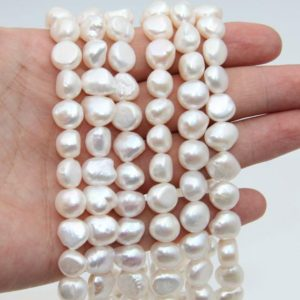 Shop Freshwater Pearls! 10~11mm Fresh Water Nugget Pearl Beads,White Color Pearl,Loose Pearl Strand Beads,Natural Seed Freshwater Pearl,Good Pearl Jewelry Beads.   Natural genuine beads Pearl beads for beading and jewelry making.  #jewelry #beads #beadedjewelry #diyjewelry #jewelrymaking #beadstore #beading #affiliate #ad
