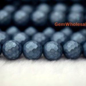 "Shop Pearl Faceted Beads! 15.5"" 8mm/10mm Shell pearl round faceted beads dark blue color, dark blue shell pearl 128 faceted beads, jewelry supply, HJF8 