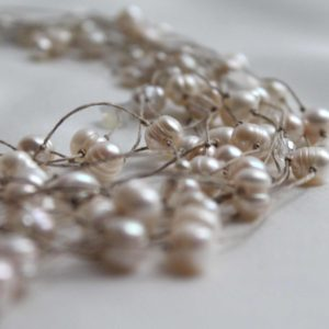 Shop Pearl Necklaces! Pearl Necklace / wedding necklace  / Multi Strand Pearl Jewelry / Bridal Bridesmaids  / Gift for her / Valentines | Natural genuine Pearl necklaces. Buy handcrafted artisan wedding jewelry.  Unique handmade bridal jewelry gift ideas. #jewelry #beadednecklaces #gift #crystaljewelry #shopping #handmadejewelry #wedding #bridal #necklaces #affiliate #ad