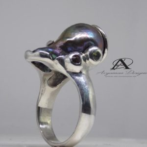 Shop Pearl Rings! Unique ring,Black pearl ring,natural pearl,ring, Uniqu pearl ring,ring,Black Sea south,one of a kind  ring,Black Sea pearl,natural Sea pearl | Natural genuine Pearl rings, simple unique handcrafted gemstone rings. #rings #jewelry #shopping #gift #handmade #fashion #style #affiliate #ad