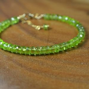 Shop Peridot Bracelets! Peridot Bracelet In 14k Gold, Sterling Silver / / August Birthstone / / 16th Anniversary / / Peridot Statement Bracelet / / Stacking Bracelet | Natural genuine Peridot bracelets. Buy crystal jewelry, handmade handcrafted artisan jewelry for women.  Unique handmade gift ideas. #jewelry #beadedbracelets #beadedjewelry #gift #shopping #handmadejewelry #fashion #style #product #bracelets #affiliate #ad