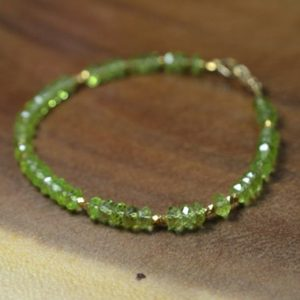 Shop Peridot Bracelets! Peridot Stacking Bracelet in Sterling Silver, 14k Gold Fill // August Birthstone // 16th Anniversary Gift // Birthstone Bracelet // Layering | Natural genuine Peridot bracelets. Buy crystal jewelry, handmade handcrafted artisan jewelry for women.  Unique handmade gift ideas. #jewelry #beadedbracelets #beadedjewelry #gift #shopping #handmadejewelry #fashion #style #product #bracelets #affiliate #ad