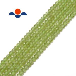 """Shop Peridot Faceted Beads! Peridot Faceted Rondelle Beads 2x3mm 15.5"""" Strand 