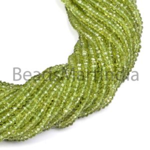 Shop Peridot Faceted Beads! Peridot Faceted Round Indian Cut Beads, Natural Faceted Gemstone Beads,Peridot Round Shape Beads, Peridot Gemstone Beads | Natural genuine faceted Peridot beads for beading and jewelry making.  #jewelry #beads #beadedjewelry #diyjewelry #jewelrymaking #beadstore #beading #affiliate #ad