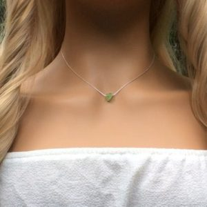 Shop Peridot Necklaces! Peridot choker necklace Sterling Silver – August birthstone | Natural genuine Peridot necklaces. Buy crystal jewelry, handmade handcrafted artisan jewelry for women.  Unique handmade gift ideas. #jewelry #beadednecklaces #beadedjewelry #gift #shopping #handmadejewelry #fashion #style #product #necklaces #affiliate #ad