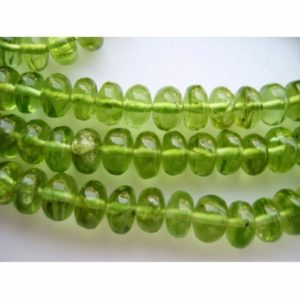 Shop Peridot Rondelle Beads! 5mm Peridot Plain Rondelle Beads, Green Peridot Rondelle Beads, Peridot Beads For Jewelry (8IN To 16IN Options) | Natural genuine rondelle Peridot beads for beading and jewelry making.  #jewelry #beads #beadedjewelry #diyjewelry #jewelrymaking #beadstore #beading #affiliate #ad