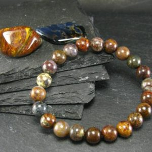 Pietersite Genuine Bracelet ~ 7 Inches  ~ 8mm Round Beads | Natural genuine Pietersite jewelry. Buy crystal jewelry, handmade handcrafted artisan jewelry for women.  Unique handmade gift ideas. #jewelry #beadedjewelry #beadedjewelry #gift #shopping #handmadejewelry #fashion #style #product #jewelry #affiliate #ad