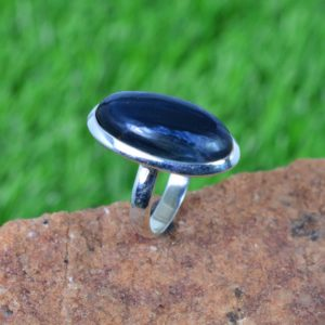 Shop Pietersite Rings! Blue Pietersite 925 Sterling Silver Gemstone Ring Size Us- 8 / Uk- P | Natural genuine Pietersite rings, simple unique handcrafted gemstone rings. #rings #jewelry #shopping #gift #handmade #fashion #style #affiliate #ad