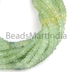 Shop Prehnite Faceted Beads! Prehnite Faceted Rondelle Shape Natural Beads, Natural Gemstone Beads, Faceted Prehnite Beads, Rondelle(6-7.5mm) Prehnite Natural Beads | Natural genuine faceted Prehnite beads for beading and jewelry making.  #jewelry #beads #beadedjewelry #diyjewelry #jewelrymaking #beadstore #beading #affiliate #ad