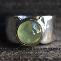 Prehnite Mens Ring, 925 Silver Ring, natural Prehnite Ring, mens Ring, unisex Ring, mens Prehnite Ring, green Prehnite Ring, prehnite Gemstone Ring | Natural genuine Gemstone jewelry. Buy handcrafted artisan men's jewelry, gifts for men.  Unique handmade mens fashion accessories. #jewelry #beadedjewelry #beadedjewelry #shopping #gift #handmadejewelry #jewelry #affiliate #ad