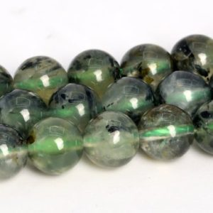 """Shop Prehnite Beads! 7-8MM Epidote In Prehnite Beads Grade A Genuine Natural Gemstone Round Loose Beads 15"""" / 7.5""""Bulk Lot Options (108754) 