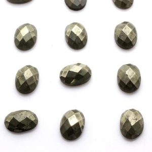 Shop Pyrite Cabochons! Oval faceted pyrite,gemstone cabochon,oval gemstones,pyrite gemstone,gray iron pyrite,flat back stone,diy jewelry making,jewelry supplies | Natural genuine stones & crystals in various shapes & sizes. Buy raw cut, tumbled, or polished gemstones for making jewelry or crystal healing energy vibration raising reiki stones. #crystals #gemstones #crystalhealing #crystalsandgemstones #energyhealing #affiliate #ad