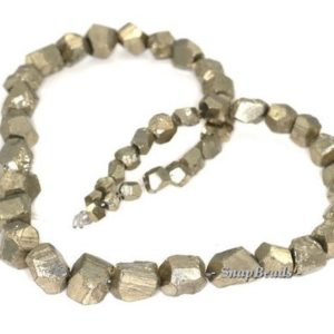 Shop Pyrite Chip & Nugget Beads! 16mm-4mm Palazzo Iron Pyrite Gemstone Graduated Rugged Nugget Loose Beads 16 inch Full Strand (90144871-412) | Natural genuine chip Pyrite beads for beading and jewelry making.  #jewelry #beads #beadedjewelry #diyjewelry #jewelrymaking #beadstore #beading #affiliate #ad