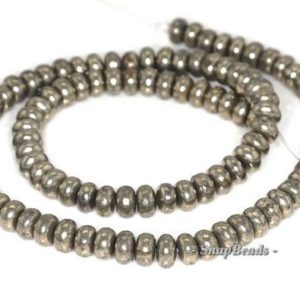 6x4mm Palazzo Iron Pyrite Gemstone Rondelle Donut 6x4mm Loose Beads 16 inch Full Strand (90144947-404) | Natural genuine beads Gemstone beads for beading and jewelry making.  #jewelry #beads #beadedjewelry #diyjewelry #jewelrymaking #beadstore #beading #affiliate #ad