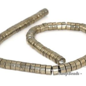 Shop Pyrite Rondelle Beads! 8x4mm Palazzo Iron Pyrite Gemstone Heishi Rondelle 8x4mm Loose Beads 7.5 Half Strand (90145045-409) | Natural genuine rondelle Pyrite beads for beading and jewelry making.  #jewelry #beads #beadedjewelry #diyjewelry #jewelrymaking #beadstore #beading #affiliate #ad