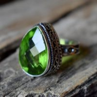 Us Size 8 – Peridot Quartz Gemstone Ring, 925 Sterling Silver, Statement Ring, Artisan Silver Ring, Jewellery Gift #sc55 | Natural genuine Gemstone jewelry. Buy crystal jewelry, handmade handcrafted artisan jewelry for women.  Unique handmade gift ideas. #jewelry #beadedjewelry #beadedjewelry #gift #shopping #handmadejewelry #fashion #style #product #jewelry #affiliate #ad