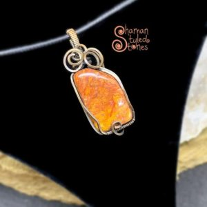 Shop Pietersite Necklaces! Red Pietersite tumble, shaman styled in oxidized copper | Natural genuine Pietersite necklaces. Buy crystal jewelry, handmade handcrafted artisan jewelry for women.  Unique handmade gift ideas. #jewelry #beadednecklaces #beadedjewelry #gift #shopping #handmadejewelry #fashion #style #product #necklaces #affiliate #ad