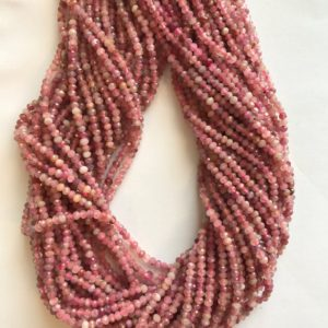 Shop Ruby Faceted Beads! natural ruby 3x2mm faceted roundelle Beads-15.5 inch strand | Natural genuine faceted Ruby beads for beading and jewelry making.  #jewelry #beads #beadedjewelry #diyjewelry #jewelrymaking #beadstore #beading #affiliate #ad