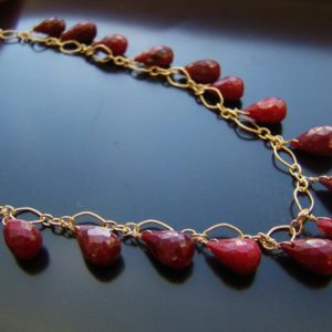 Indian Red Ruby Necklace, 12k Gold, luxury statement, gemstone jewelry, gift for her | Natural genuine Gemstone necklaces. Buy crystal jewelry, handmade handcrafted artisan jewelry for women.  Unique handmade gift ideas. #jewelry #beadednecklaces #beadedjewelry #gift #shopping #handmadejewelry #fashion #style #product #necklaces #affiliate #ad