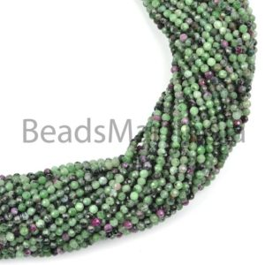 Shop Ruby Zoisite Faceted Beads! Ruby Zoisite Faceted Rondelle Machine Cut Beads, Faceted Ruby Zoisite Beads, Ruby Zoisite Rondelle Beads, Ruby Zoisite Beads, Natural Beads | Natural genuine faceted Ruby Zoisite beads for beading and jewelry making.  #jewelry #beads #beadedjewelry #diyjewelry #jewelrymaking #beadstore #beading #affiliate #ad