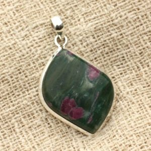 Shop Ruby Zoisite Pendants! N3 – 925 sterling silver pendant and stone – Ruby Zoisite oval 34x26mm | Natural genuine Ruby Zoisite pendants. Buy crystal jewelry, handmade handcrafted artisan jewelry for women.  Unique handmade gift ideas. #jewelry #beadedpendants #beadedjewelry #gift #shopping #handmadejewelry #fashion #style #product #pendants #affiliate #ad