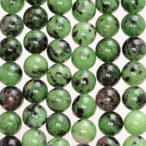 Shop Ruby Zoisite Round Beads! 8mm Ruby Zoisite Gemstone Green Red Grade AA Round Loose Beads 15.5 inch Full Strand (80004979-452) | Natural genuine round Ruby Zoisite beads for beading and jewelry making.  #jewelry #beads #beadedjewelry #diyjewelry #jewelrymaking #beadstore #beading #affiliate #ad