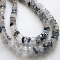 8 Inch Black Rutile Quartz Faceted Beads, 6.5-7mm Natural Rutiliated Quartz Faceted Rondelle Beads, 50 Pcs Rutile Quartz Necklace – Pdg180 | Natural genuine Gemstone jewelry. Buy crystal jewelry, handmade handcrafted artisan jewelry for women.  Unique handmade gift ideas. #jewelry #beadedjewelry #beadedjewelry #gift #shopping #handmadejewelry #fashion #style #product #jewelry #affiliate #ad