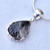 Beautiful Handmade Pendant, natural Black Rutilated Quartz Penadnt, solid 925 Sterling Silver Quartz Penadnt, gift For Her, black Rutile Pendant | Natural genuine Gemstone jewelry. Buy crystal jewelry, handmade handcrafted artisan jewelry for women.  Unique handmade gift ideas. #jewelry #beadedjewelry #beadedjewelry #gift #shopping #handmadejewelry #fashion #style #product #jewelry #affiliate #ad