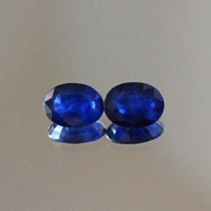 Shop Sapphire Stones & Crystals! Blue Sapphire Loose Gemstone Pair 2.66ct Oval Cut 6x8mm Diffusion Sapphire Stones | Natural genuine stones & crystals in various shapes & sizes. Buy raw cut, tumbled, or polished gemstones for making jewelry or crystal healing energy vibration raising reiki stones. #crystals #gemstones #crystalhealing #crystalsandgemstones #energyhealing #affiliate #ad