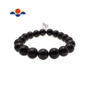 "Shop Shungite Bracelets! High Carbon Shungite Bracelet Smooth Round Size 8mm 10mm 7.5"" Length 