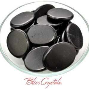 Shop Shungite Stones & Crystals! 1 SHUNGITE Palm Stone Polished Flat Healing Crystal and Stone for Purification #SH41 | Natural genuine stones & crystals in various shapes & sizes. Buy raw cut, tumbled, or polished gemstones for making jewelry or crystal healing energy vibration raising reiki stones. #crystals #gemstones #crystalhealing #crystalsandgemstones #energyhealing #affiliate #ad
