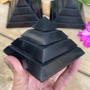 Shop Shungite Shapes! Shungite Sakkara pyramid, saqqara pyramid, shungite, emf protector, crystals for protection, large | Natural genuine stones & crystals in various shapes & sizes. Buy raw cut, tumbled, or polished gemstones for making jewelry or crystal healing energy vibration raising reiki stones. #crystals #gemstones #crystalhealing #crystalsandgemstones #energyhealing #affiliate #ad