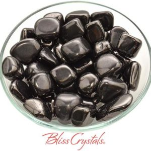 Shop Tumbled Shungite Crystals & Pocket Stones! 1 Black SHUNGITE Tumbled Stone from Karelia Russia #SG40 | Natural genuine stones & crystals in various shapes & sizes. Buy raw cut, tumbled, or polished gemstones for making jewelry or crystal healing energy vibration raising reiki stones. #crystals #gemstones #crystalhealing #crystalsandgemstones #energyhealing #affiliate #ad