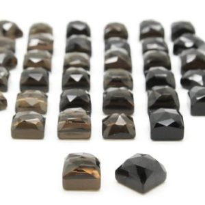 Shop Smoky Quartz Stones & Crystals! Square cut cabochons,flat back cabs,smokey quartz,smoky quartz cabochons,small square cabs,square gemstones,custom cut stones,AA Quality | Natural genuine stones & crystals in various shapes & sizes. Buy raw cut, tumbled, or polished gemstones for making jewelry or crystal healing energy vibration raising reiki stones. #crystals #gemstones #crystalhealing #crystalsandgemstones #energyhealing #affiliate #ad