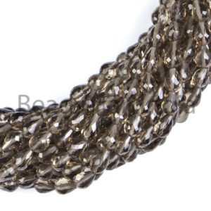 Shop Smoky Quartz Faceted Beads! 100% Natural Smoky Quartz Faceted Drop Shape Beads,Natural Smoky Quartz, AAA Quality, Faceted Smoky Quartz Beads,Semi Precious Smoky Quartz   Natural genuine faceted Smoky Quartz beads for beading and jewelry making.  #jewelry #beads #beadedjewelry #diyjewelry #jewelrymaking #beadstore #beading #affiliate #ad