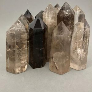 Shop Smoky Quartz Stones & Crystals! One Smoky Quartz Point | Natural genuine stones & crystals in various shapes & sizes. Buy raw cut, tumbled, or polished gemstones for making jewelry or crystal healing energy vibration raising reiki stones. #crystals #gemstones #crystalhealing #crystalsandgemstones #energyhealing #affiliate #ad