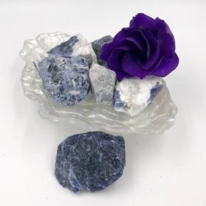 Shop Raw & Rough Sodalite Stones! Rough Sodalite – Known as the Truth Stone | Natural genuine stones & crystals in various shapes & sizes. Buy raw cut, tumbled, or polished gemstones for making jewelry or crystal healing energy vibration raising reiki stones. #crystals #gemstones #crystalhealing #crystalsandgemstones #energyhealing #affiliate #ad