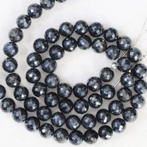 Shop Spinel Faceted Beads! AAA+ quality gemstone 32 piece faceted BLACK SPINAL round and ball Beads 7 — 7.7 mm approx   Natural genuine faceted Spinel beads for beading and jewelry making.  #jewelry #beads #beadedjewelry #diyjewelry #jewelrymaking #beadstore #beading #affiliate #ad