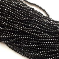 Black Spinel Beads, Black Spinel Plain Round Beads, Black Spinel Round Balls, Black Spinel Necklace, 3.5-4mm, 14 Inch Strand, | Natural genuine Gemstone jewelry. Buy crystal jewelry, handmade handcrafted artisan jewelry for women.  Unique handmade gift ideas. #jewelry #beadedjewelry #beadedjewelry #gift #shopping #handmadejewelry #fashion #style #product #jewelry #affiliate #ad
