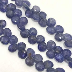 Shop Tanzanite Faceted Beads! Natural Tanzanite Faceted Hearts Beads, 5.5mm to 6mm, 7 inches Strands, Blue Beads, Gemstone Beads, Semiprecious Stone Beads, Rare Beads | Natural genuine faceted Tanzanite beads for beading and jewelry making.  #jewelry #beads #beadedjewelry #diyjewelry #jewelrymaking #beadstore #beading #affiliate #ad