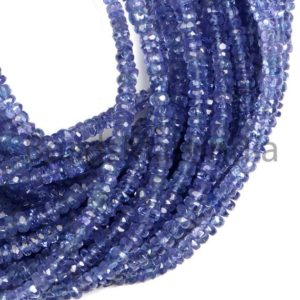 Shop Tanzanite Faceted Beads! Tanzanite Faceted Rondelle Beads, Blue Tanzanite Gemstone Beads, Tanzanite Rondelle Shape Beads, Tanzanite Faceted Indian Cut Rondelle Beads | Natural genuine faceted Tanzanite beads for beading and jewelry making.  #jewelry #beads #beadedjewelry #diyjewelry #jewelrymaking #beadstore #beading #affiliate #ad